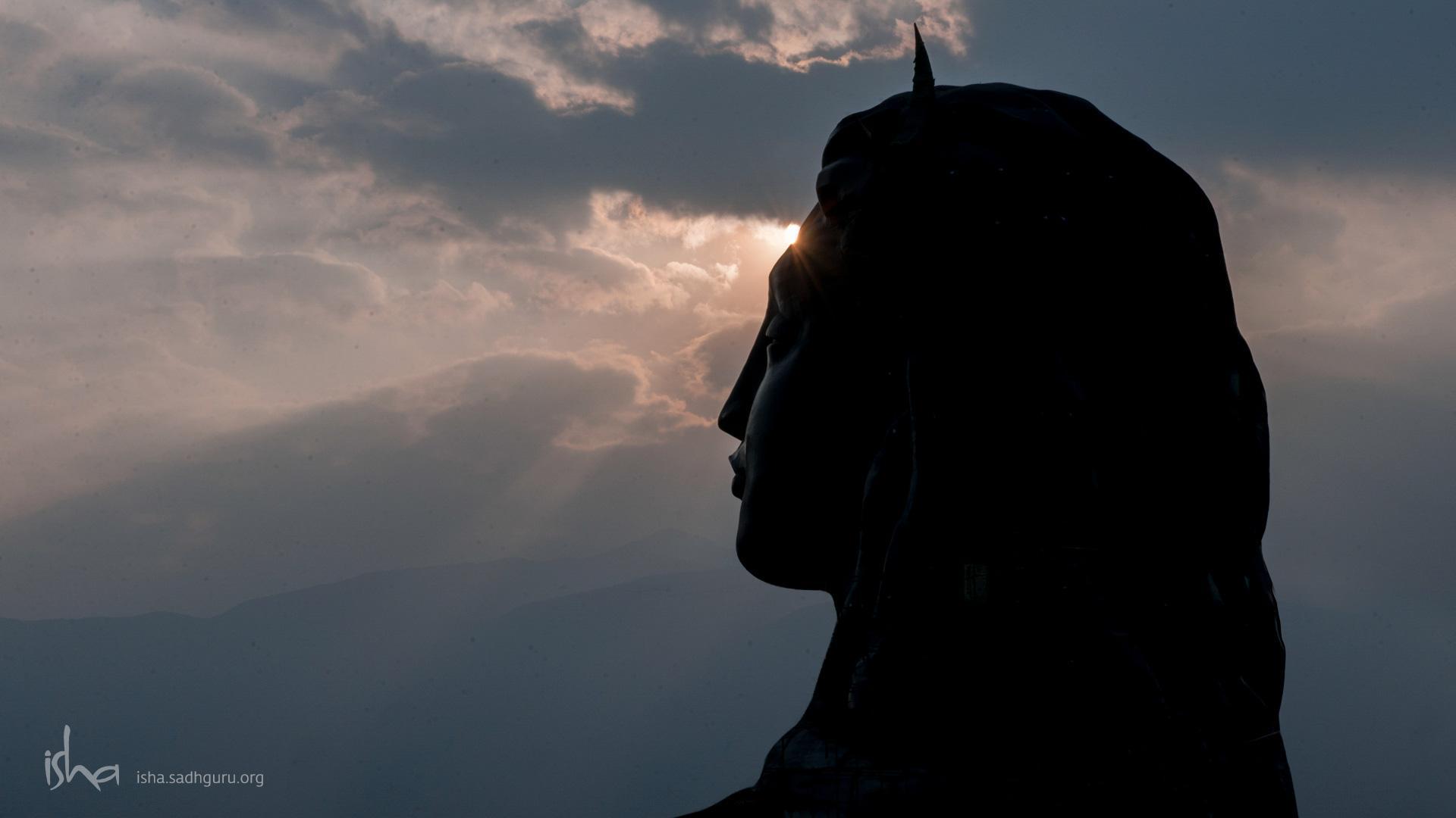 Mahashivratri Images - The Adiyogi with setting Sun HD