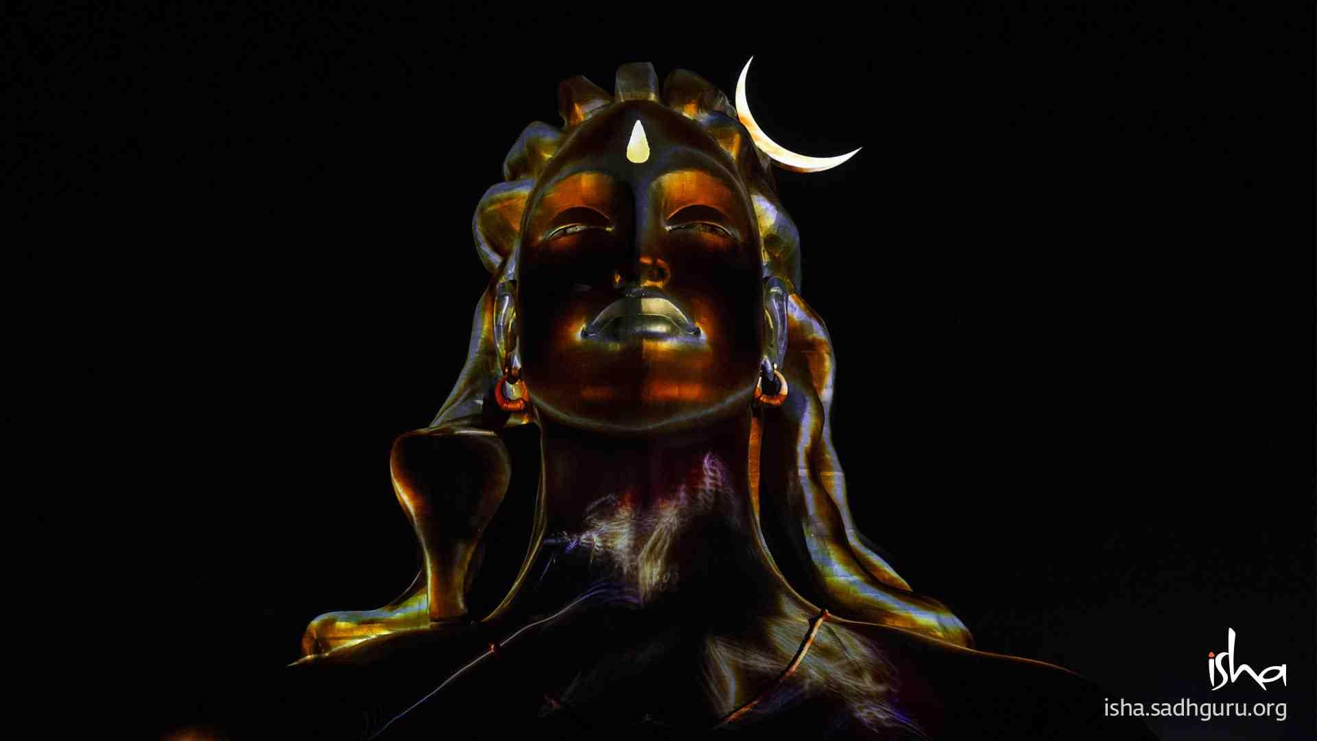 Shiva Wallpaper - Second image from the Adiyogi Divya Darshanam on Mahashivratri