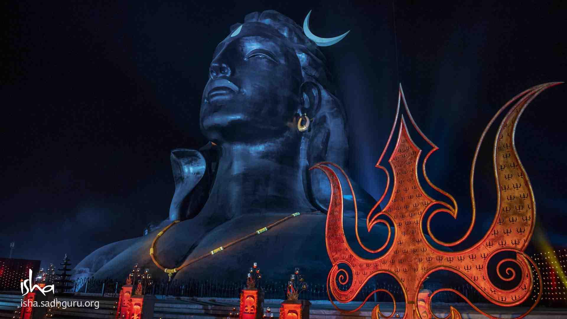 Shiva Wallpaper with his Trishul on Mahashivratri