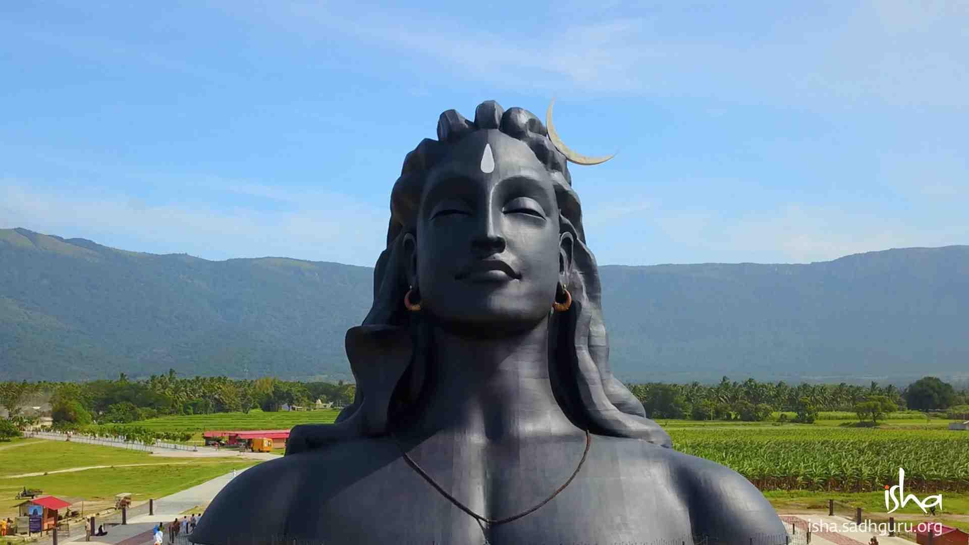 Shiva Wallpaper of 112ft Adiyogi statue version 3