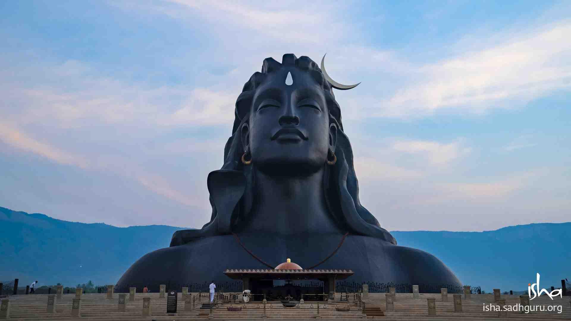 Shiva Wallpaper of 112ft Adiyogi statue version 4