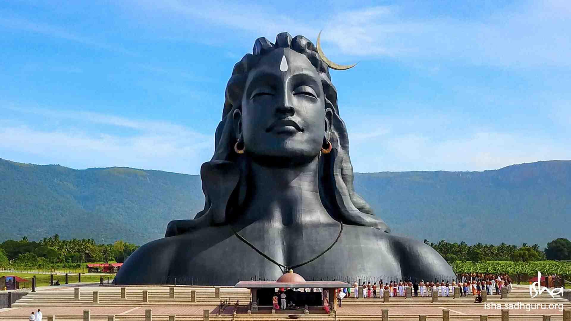 Shiva Wallpaper of 112ft Adiyogi statue