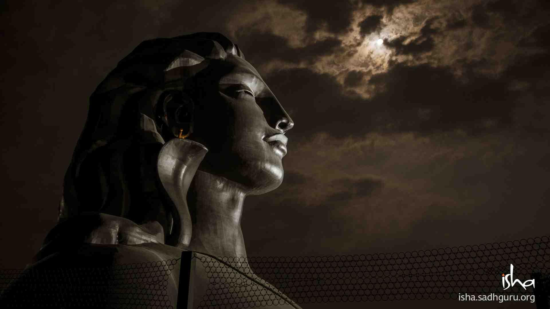 Shiva Wallpaper - on a Full moon ( Pournami ) night
