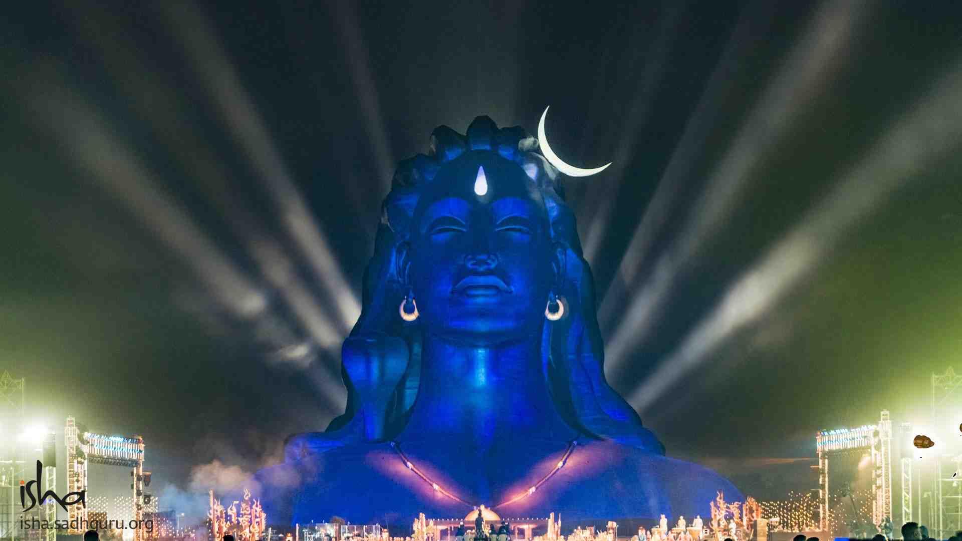Shiva Wallpaper - Mahashivratri celebrations at the 112 ft Adiyogi Statue