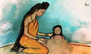Shiva_Parvathi-making-Ganesha