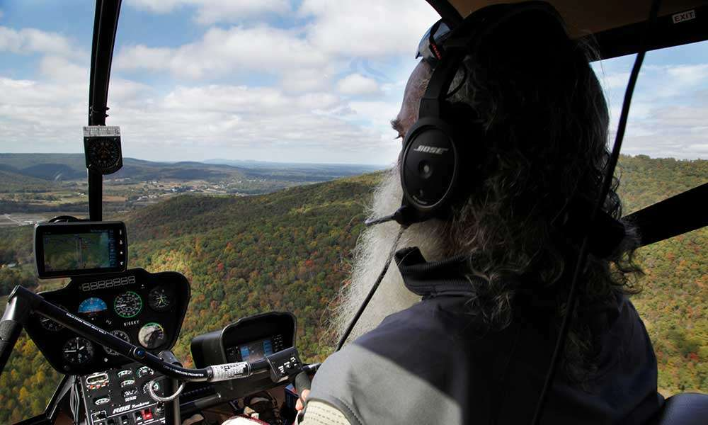 Sadhguru flies a Helicopter