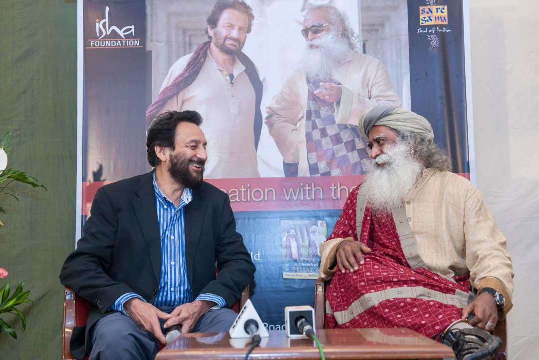Shekhar Kapur with Sadhguru