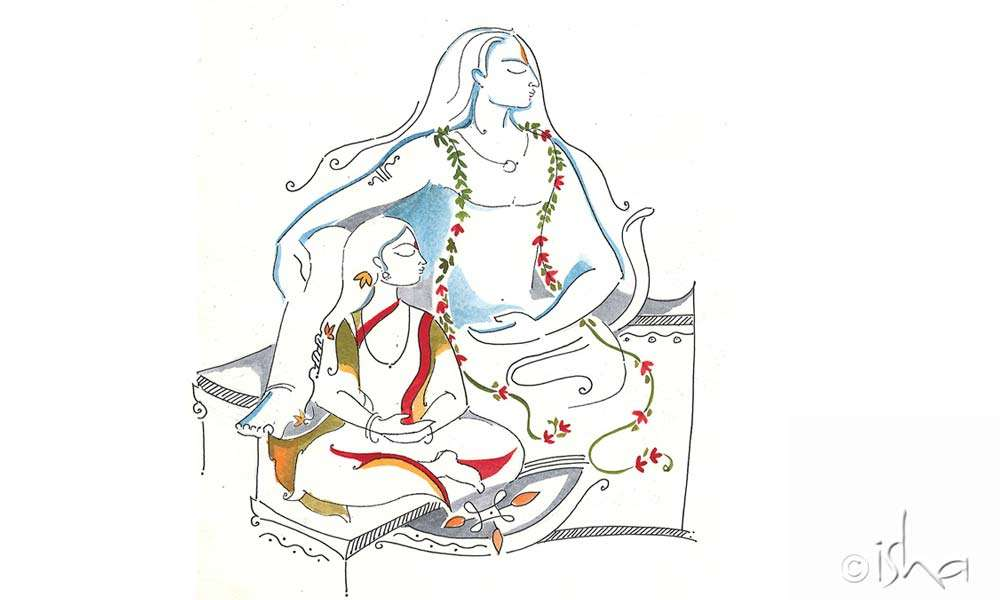 "Sadhguru's stories of Adiyogi were beautifully illustrated. Here, Parvati is sitting one step below him to acknowledge that there are really ""only"" 112 ways to attain to one's ultimate nature."