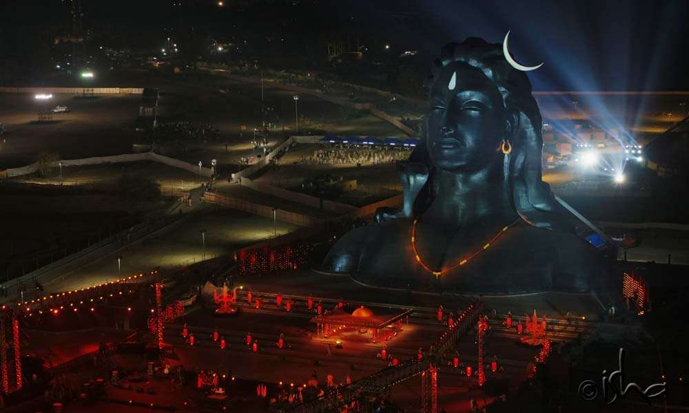 A bird's eye view of Adiyogi