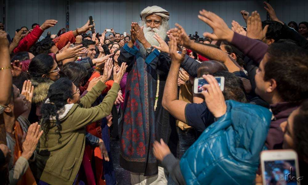 Sadhguru spreading smiles, touching lives, wherever he goes