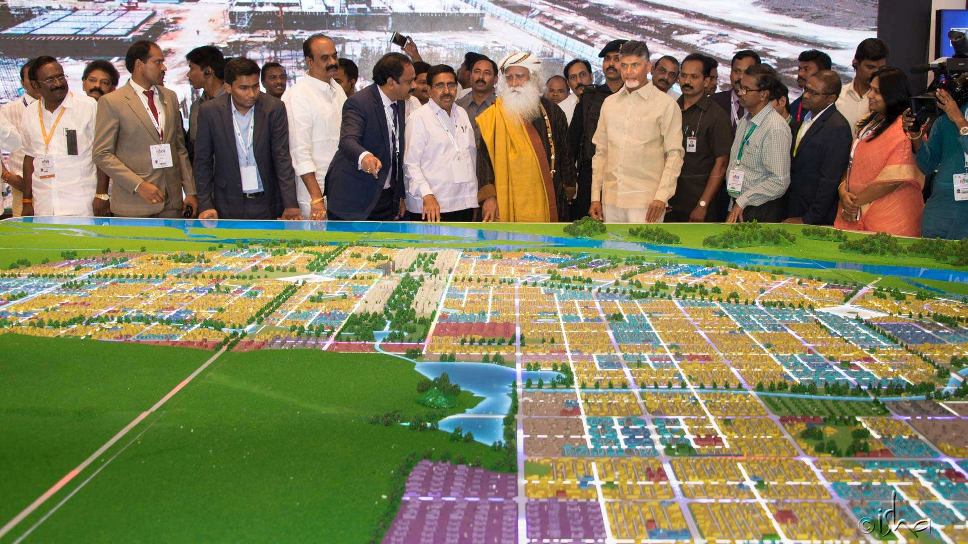 A larger overview of the Amaravati city design