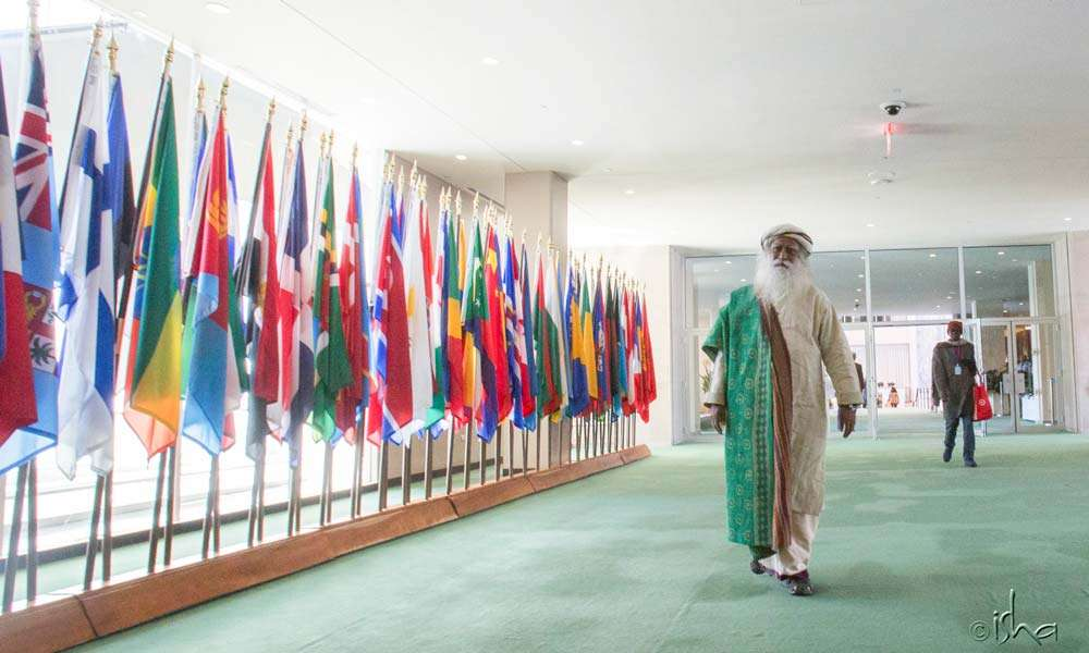 Sadhguru at the United Nations Headquarters in New York