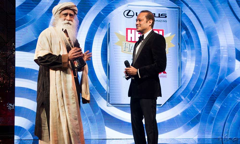 "Sadhguru was presented the ""Outstanding Personality of the Year"" award"