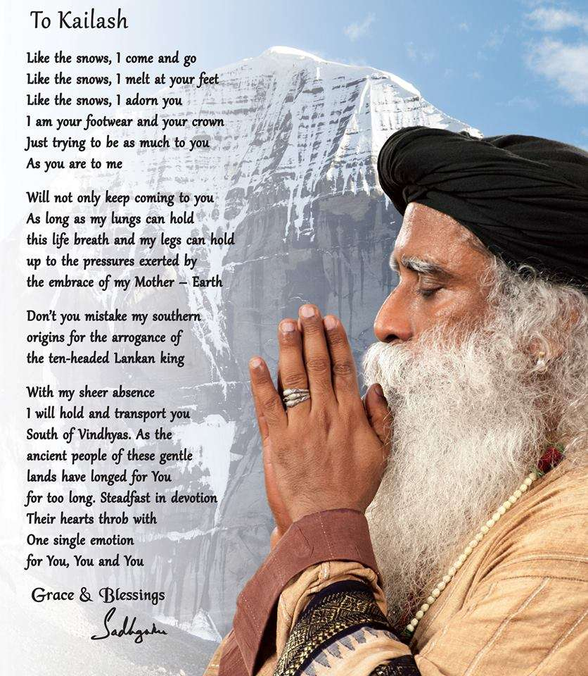 "Sadhguru's Poem ""To Kailash"" 