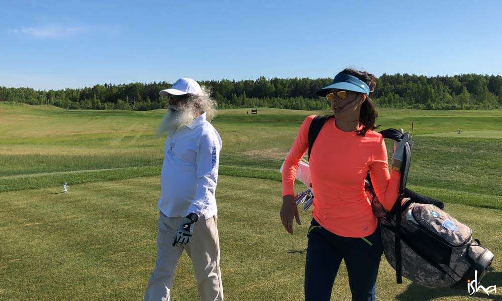 Golf outing with professional golfer Maria Verchenova