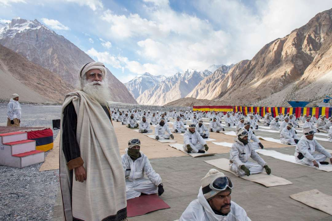 Fierce Yogi stands by fierce Siachen Warriors