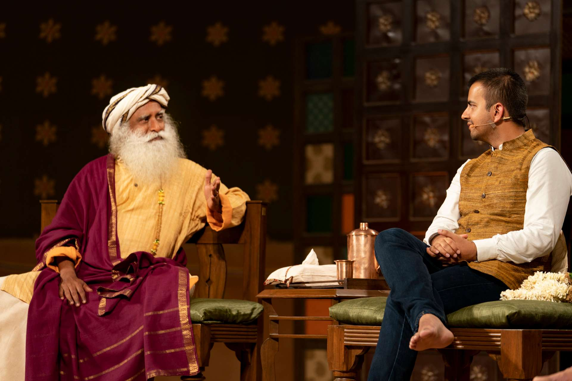 Sadhguru with Bhavish Aggarwal, co-founder and CEO, Ola Cabs