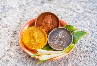 Adiyogi Coins in copper