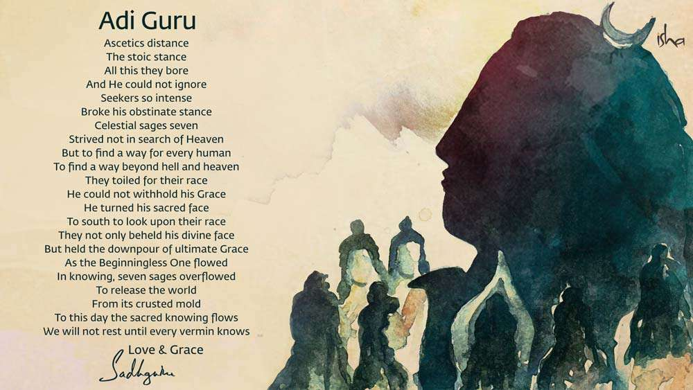 Poem on Adiyogi by Sadhguru