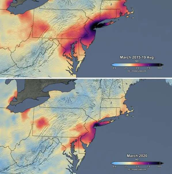 air Quality before and after lockdown in NE USA