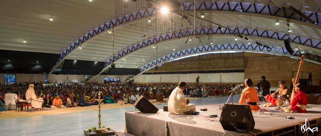 Guru Purnima Images | Musical performance by Isha Samskriti at the Isha Yoga Center