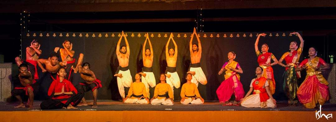 Guru Purnima Images | Kalari, Yoga and Dance Performance by Isha Samskriti