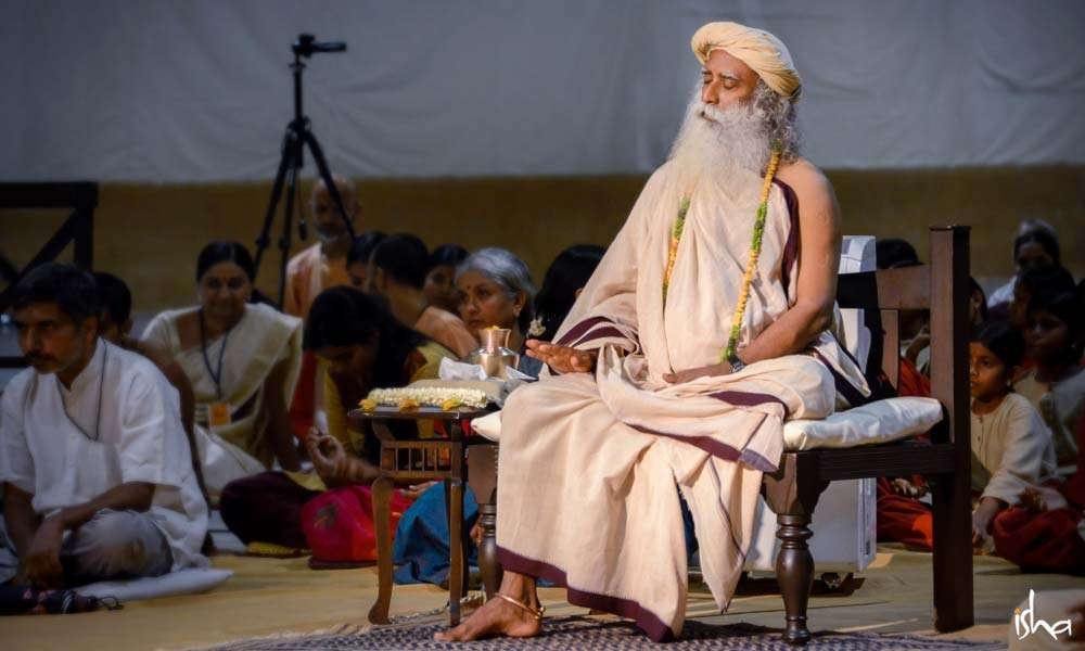 photo of sadhguru during Gurupurnima