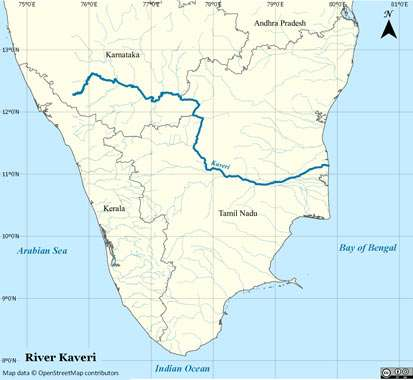 river-cauvery-map