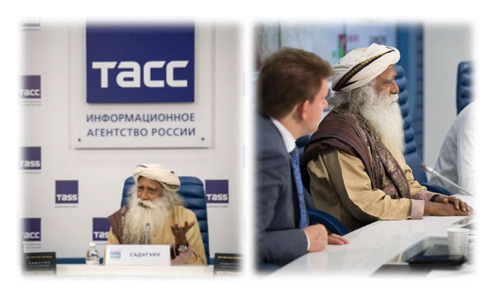 Sadhguru meets the press in Russia, May-June 2018