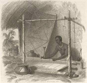 An old illustration of an Indian weaver | Photo credit: Wikipedia