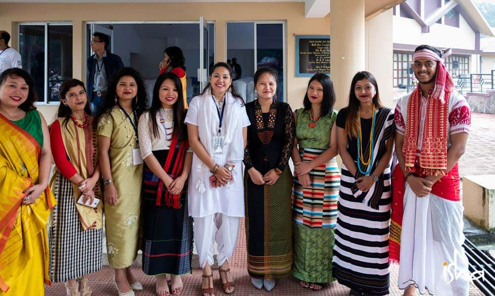 The students of Northeastern Hill University, Shillong, Meghalaya, ready to welcome Sadhguru for the Youth and Truth event