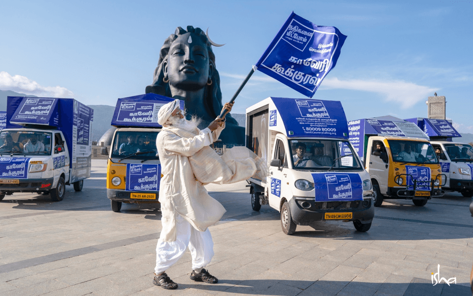 Sadhguru flags off Cauvery Calling at Adiyogi on Jul 31, 2019