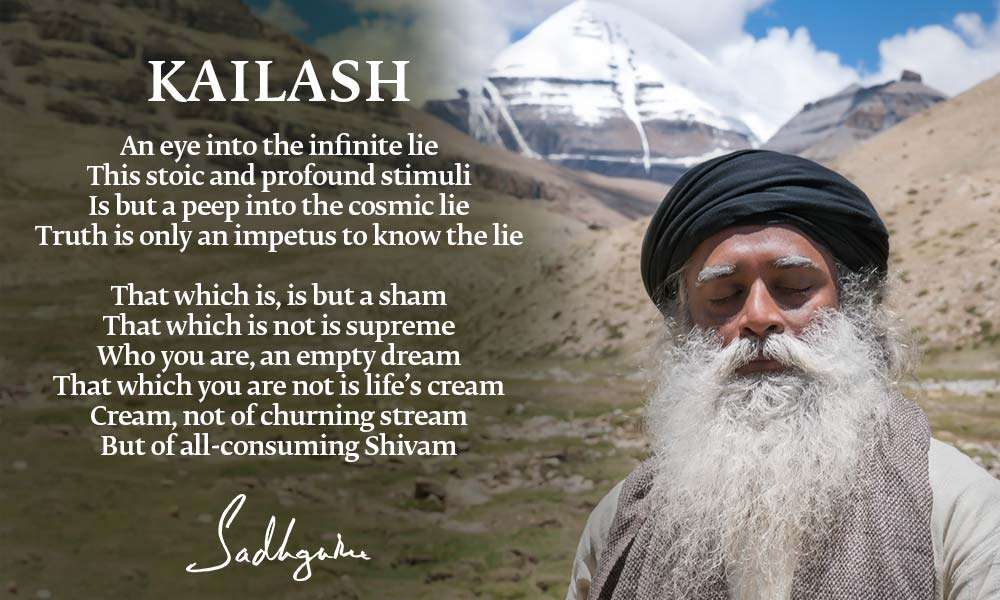 "Sadhguru's Poem ""Kailash"" 