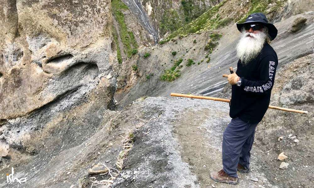 Sadhguru walking at the foothills of Annapoorna range in Himalayas, Nepal | Mountain Lust