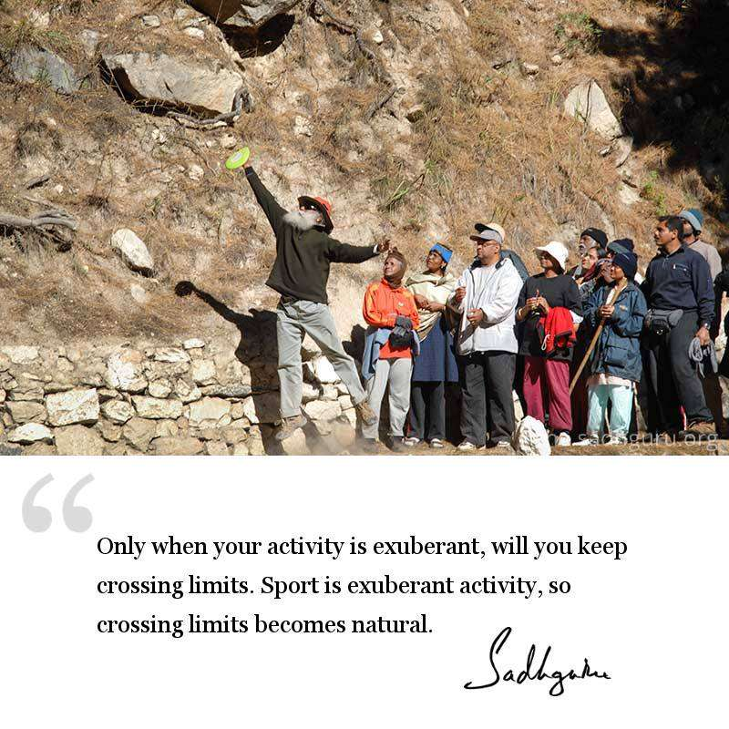 Sadhguru's quote on sport | How Sports Can Build the Nation