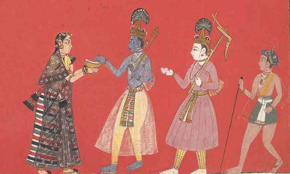 Krishna Meets Trivakra in Mathura