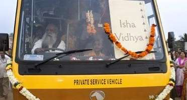 Isha Vidhya School Bus Inaugurated