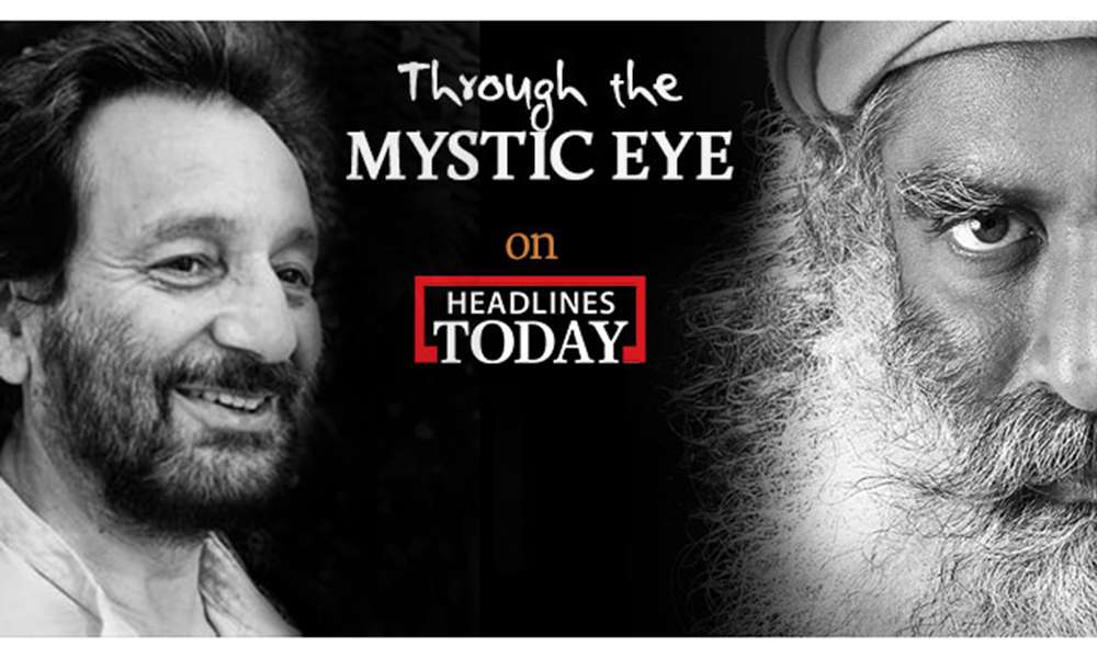 Sadhguru and Shekhar Kapur on Headlines Today