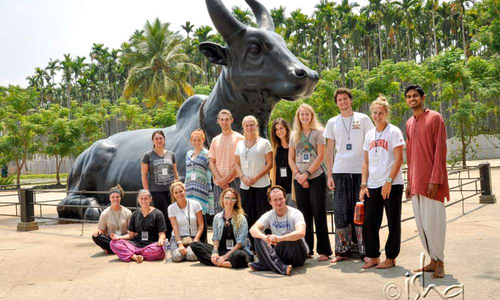 "Students from ""Semester at Sea"" Visit the Isha Yoga Center"