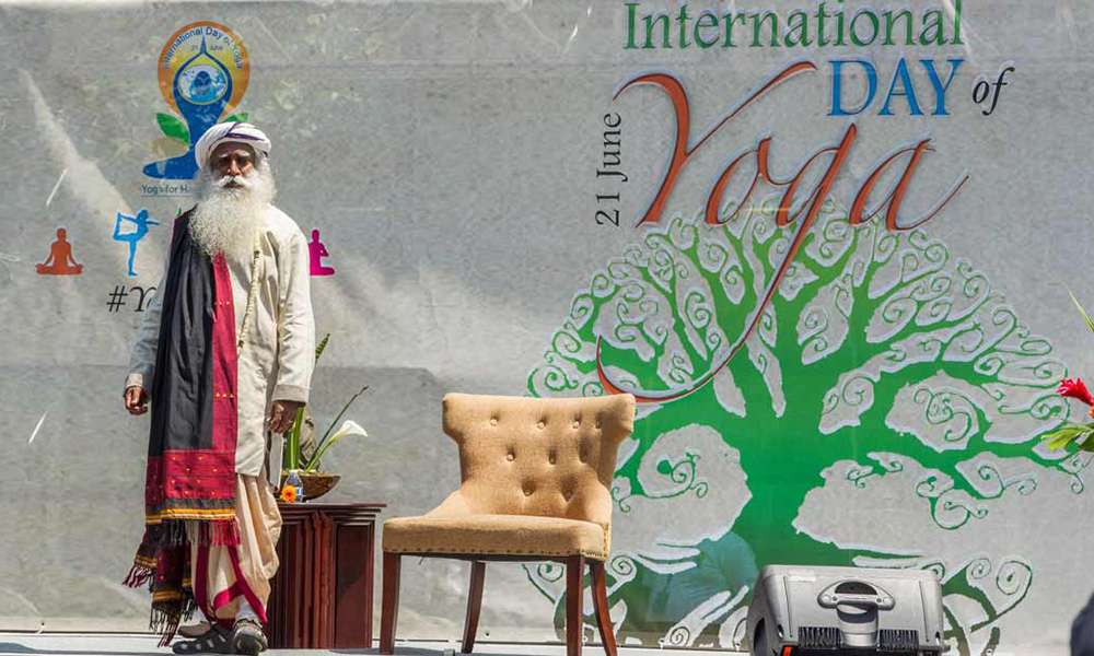 Sadhguru at the United Nations on 2nd International Day of Yoga