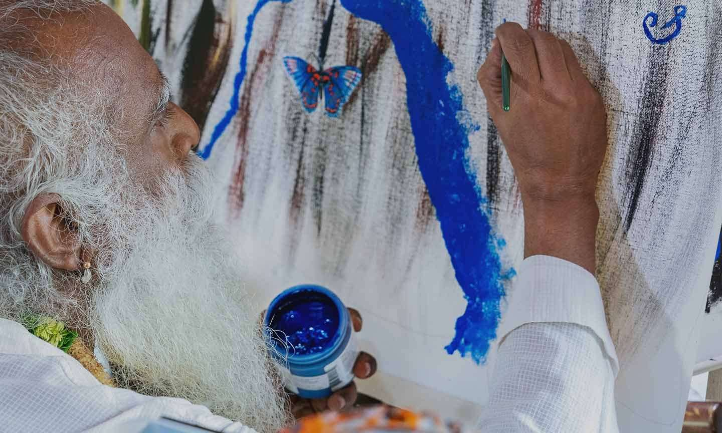 Sadhguru's Painting Auctioned For Rs 4.14 Crore