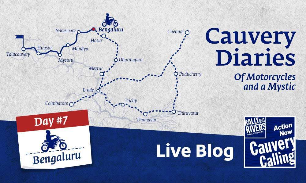 isha blog article | Day 7 - Cauvery Diaries: Of Motorcycles and a Mystic