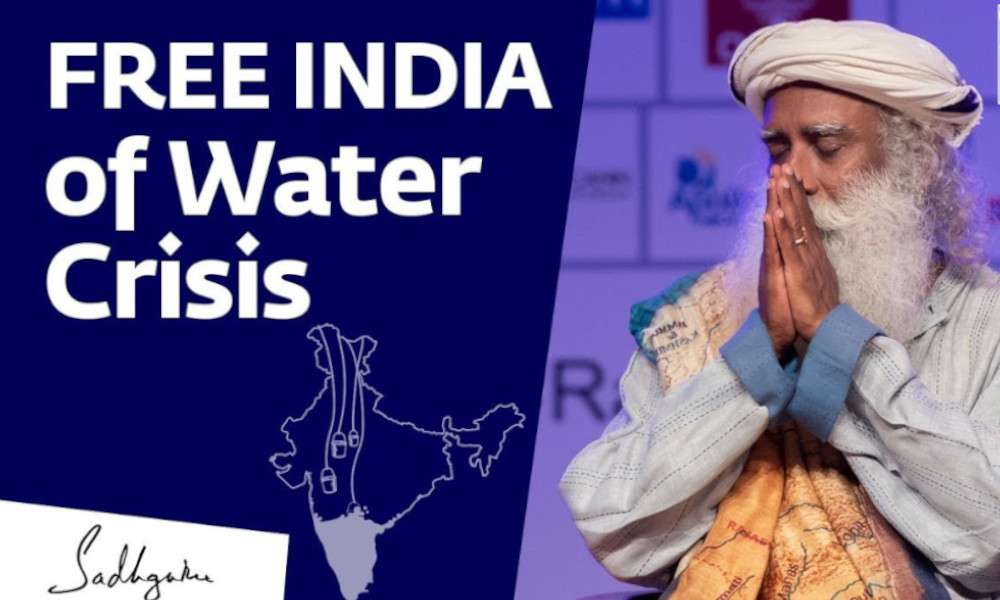 sadhguru wisdom audio | sadhguru calls to free india from water crisis