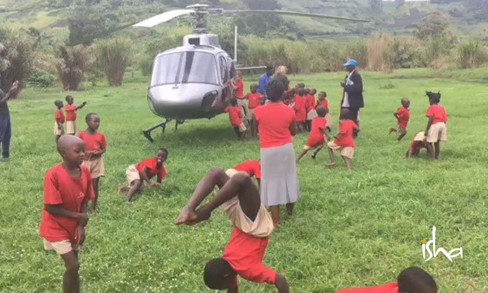 isha blog article | sadhguru school at uganda | helicopters and cucumber sandwiches
