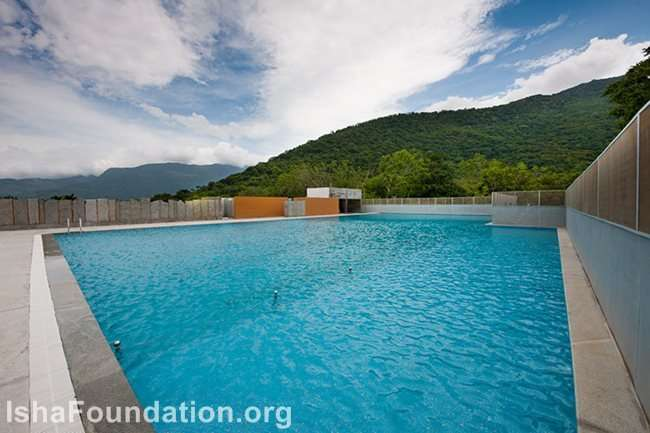 Poolside with a Mountain view