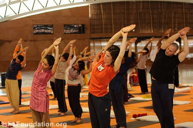 Hata Yoga Teacher Training is taught in the Adi yogi Alayam