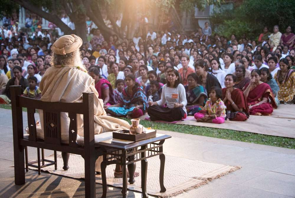 Sadhguru speaking at the Isha Yoga Center - India the Spiritual Gateway