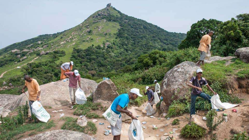 Velliangiri Mountain Cleaning by PGH Volunteers on World Environment Day