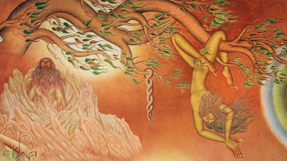 Spanda Hall Mural depicting a yogi doing Bhuta Shuddhi - How To Detox Your Body Naturally - 5 Things You Can Do At Home