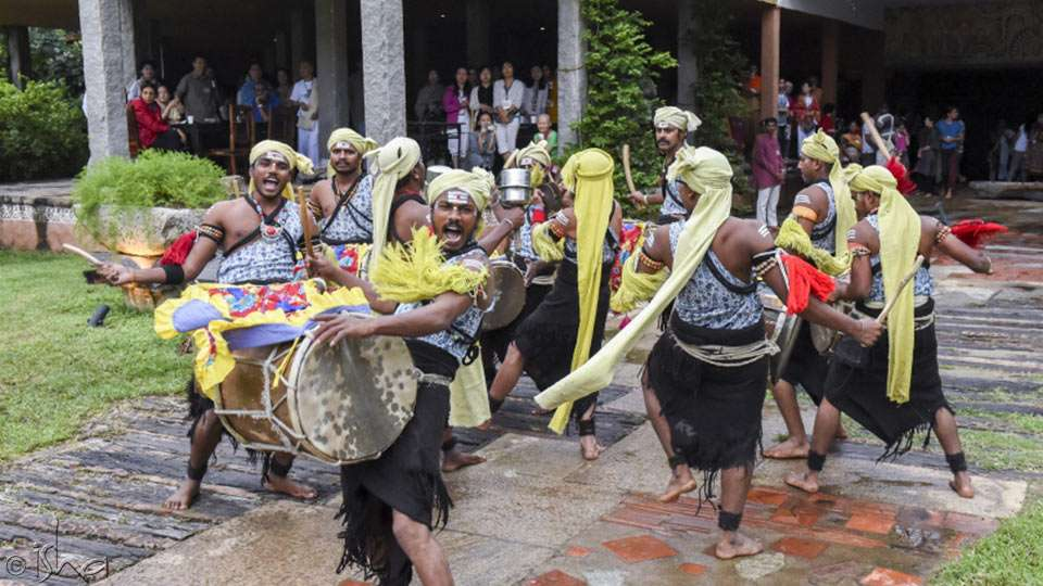 A riveting performance by the drummers